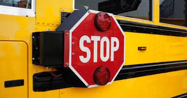 School bus stop sign.