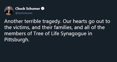 schumer tweet synagogue shooting