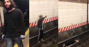 Suspected subway pusher