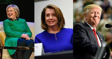 Hillary Clinton, Nancy Pelosi and Donald Trump