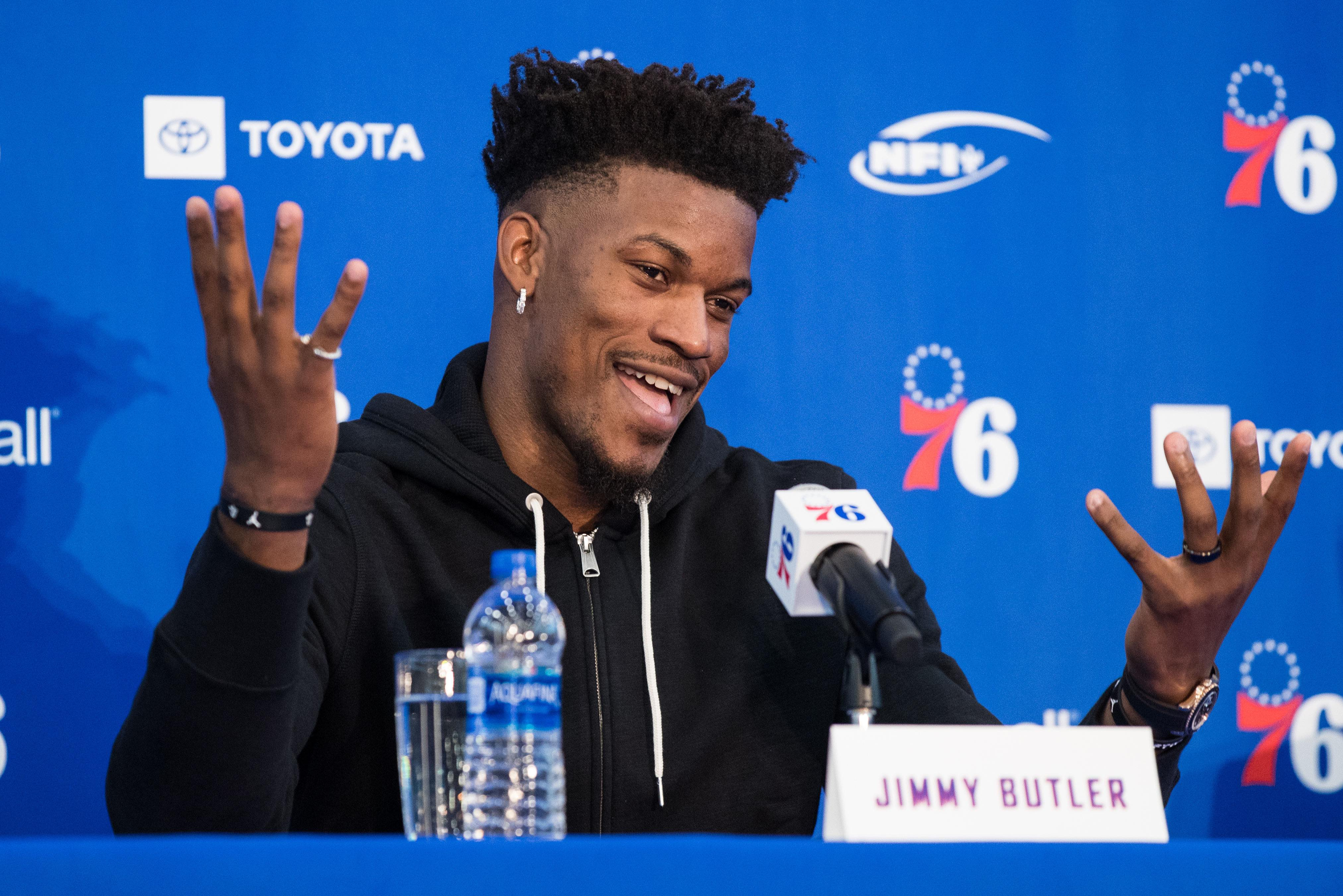 e349ca12950c Jimmy Butler has aggressively challenged 76ers  coach Brett Brown ...