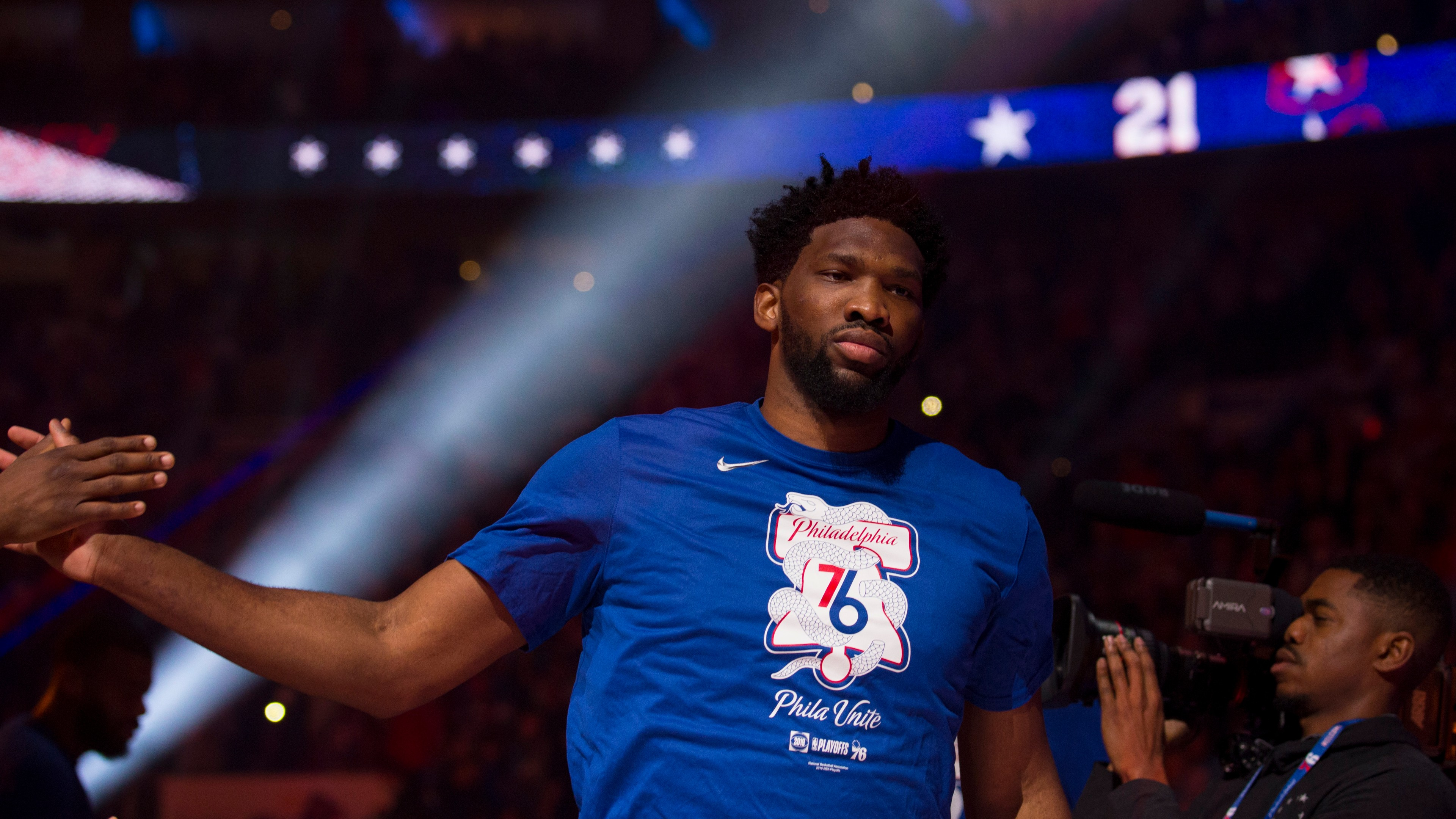 online retailer 516a4 a5268 Joel Embiid will lead Philadelphia 76ers to win over Toronto ...
