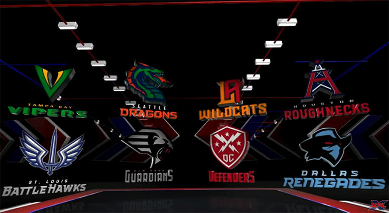 XFL Team Names Logos