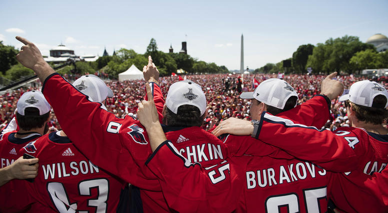 Capitals Victory Rally