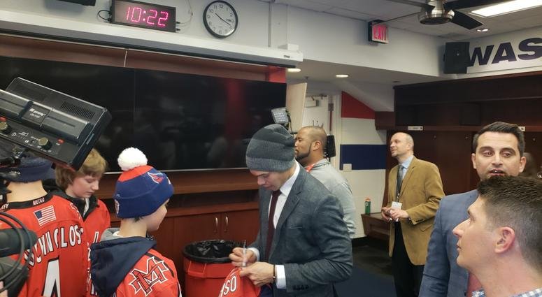 Divyne Apollon II and the Metro Maple Leafs meet John Carlson of the Capitals
