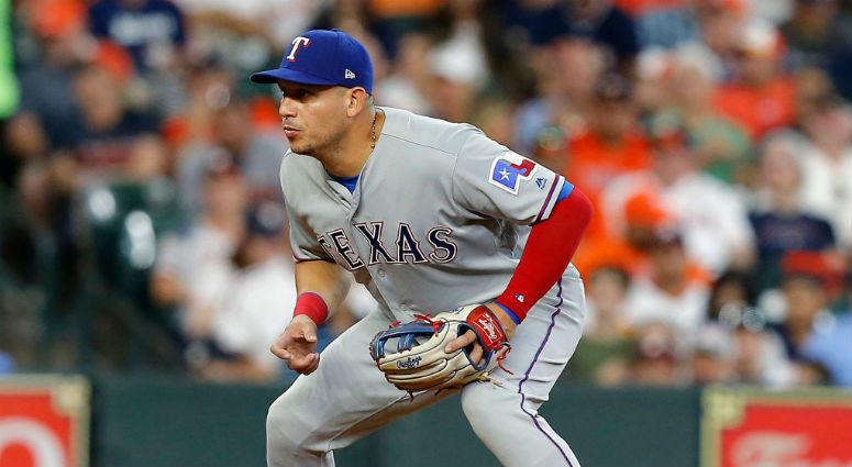 Asdrubal Cabrera playing for the Texas Rangers