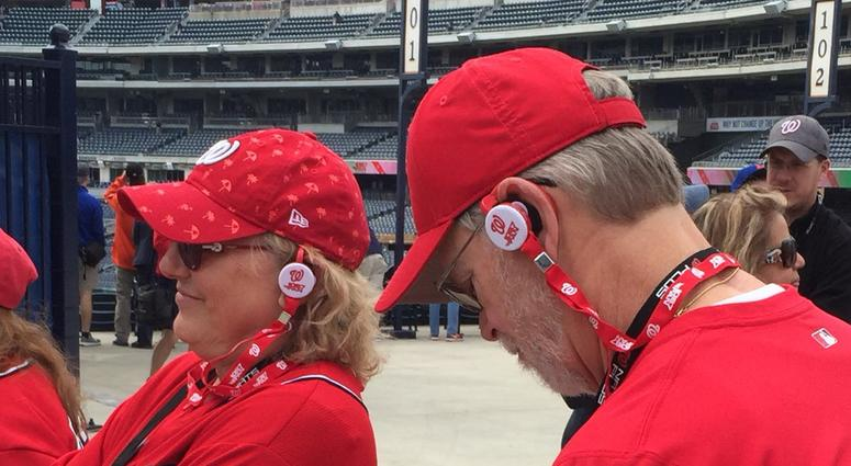 Nationals fans listening to 106.7 The Fan.