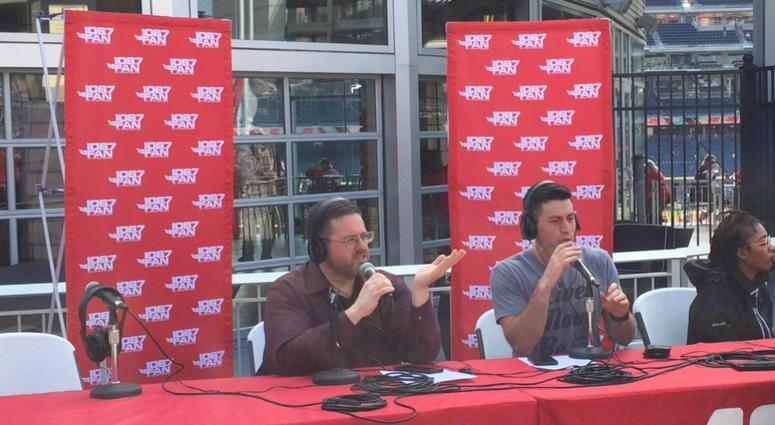 Chris Russell and Craig Hoffman broadcasting live from Nats Park.