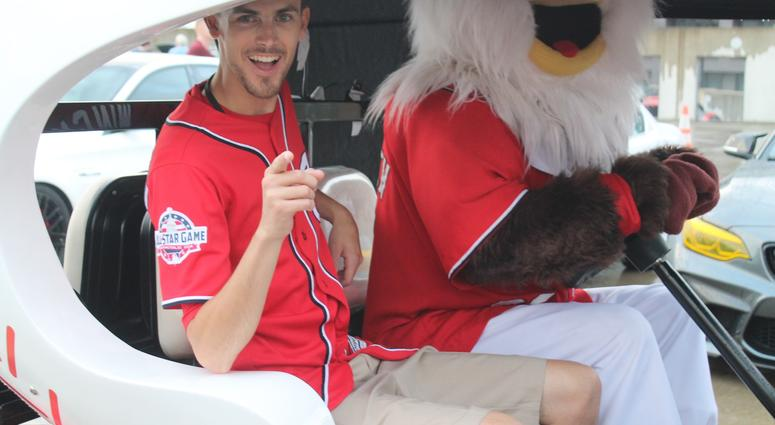 Grant Paulsen and the 106.7 The Fan Street Team hang out at the Rev Up The Park charity car show at Nationals park!