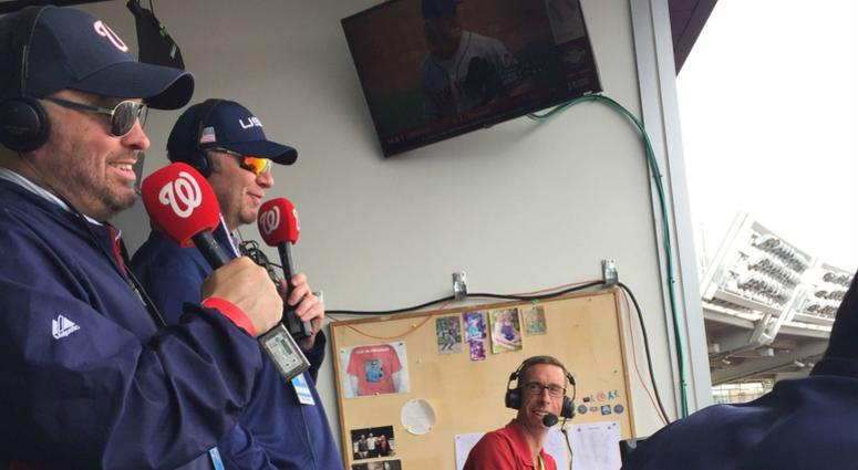 The Junkies join the Nats radio broadcast on 106.7 The Fan Day.