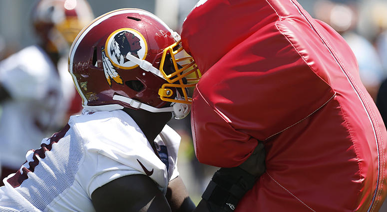 Redskins heated when hitting the wall
