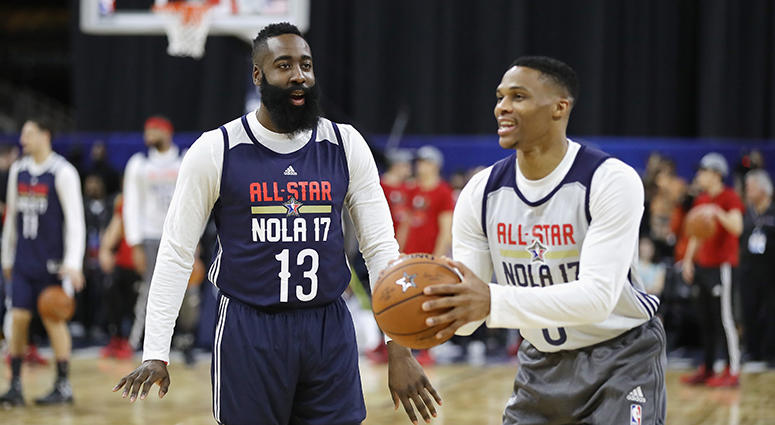 reputable site 83441 34780 Russell Westbrook, James Harden reunite in Houston; Chris ...