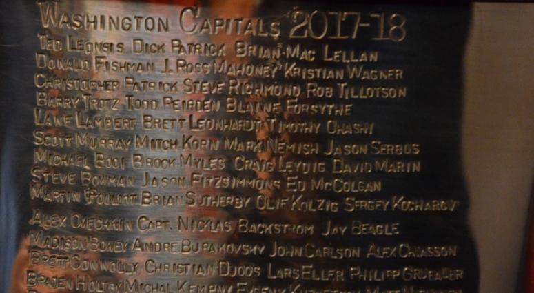 The Capitals' names are now engraved on Lord Stanley's Cup