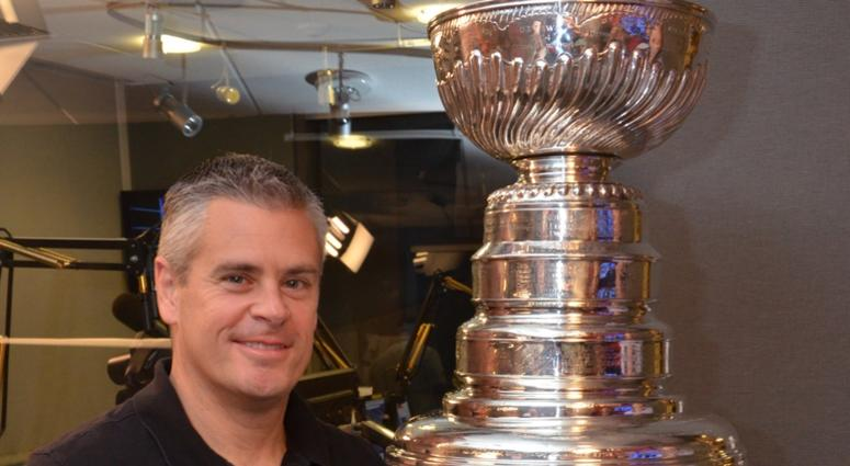 J.P. Flaim poses with the Stanley Cup