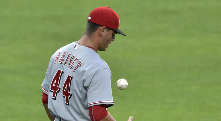 Trevor Rainey came to the Nationals in a November trade with the Reds.