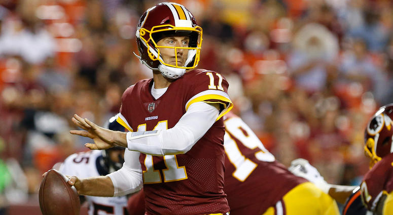 size 40 66b5f 5435d Alex Smith throws his first Redskins interception | 106.7 ...