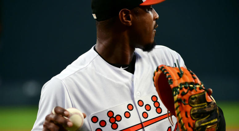sports shoes cf42f acaab Orioles make history with Braille jerseys | 106.7 The Fan