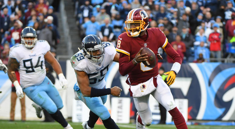 2eefb2d2 Josh Johnson's late interceptions end Redskins' rally | 106.7 The Fan