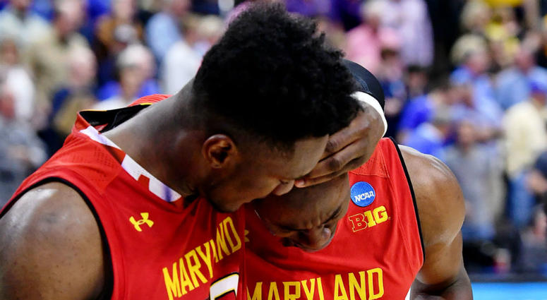 Did LSU get away with a travel to beat Maryland in March Madness?