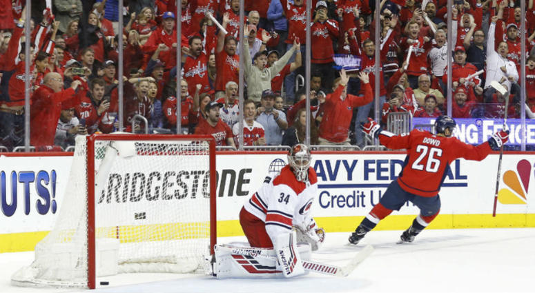 Capitals punish Hurricanes are one win away from 2nd round.