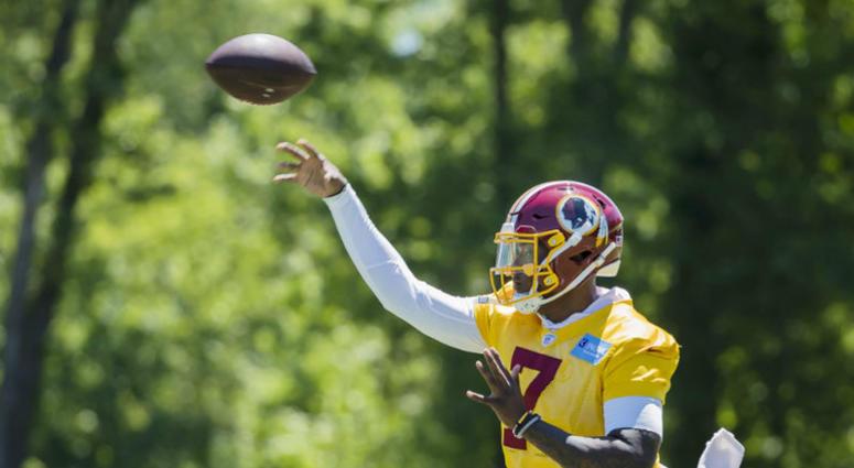 Redskins rookie QB Dwayne Haskins isn't worried about starting Week 1.
