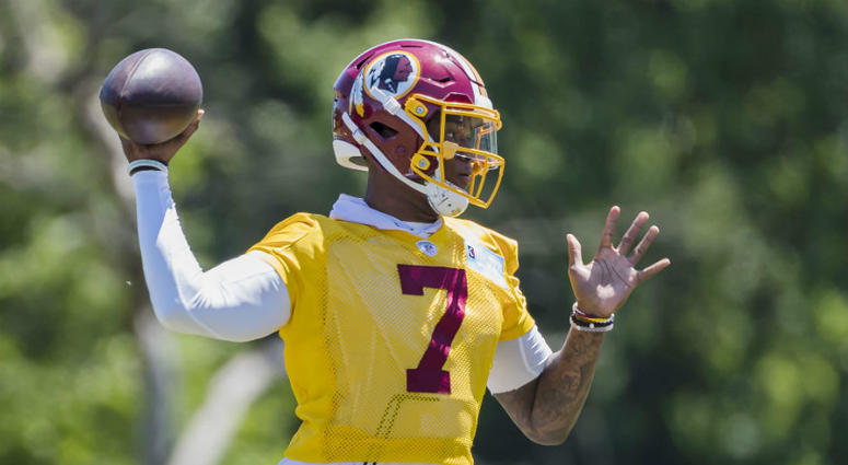 Jay Gruden says Dwayne Haskins has a shot to start for Redskins.