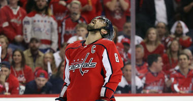 Defending Stanley Cup champion Washington Capitals crash out in first round.