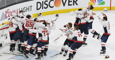 Capitals announcer John Walton recreates Stanley Cup-winning call from bar.