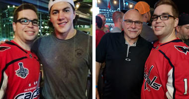 Grant Paulsen with Barry Trotz and T.J. Oshie