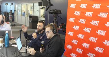 Grant and Danny talk Caps at the annual Media Luncheon at MedStar Iceplex