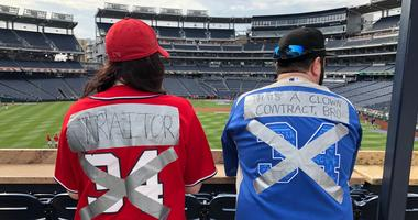 Two Nationals fans are no longer fans of Bryce Harper.