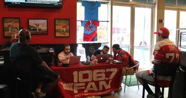 The 106.7 The Fan Street Team joins Grant & Danny as they broadcastlive at The Greene Turtle during Game 1 of the Capitals vs. Lighting.