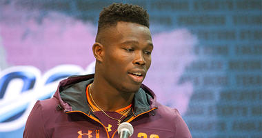 Dwayne Haskins challenges Mohamed Sanu to throwing contest