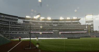 How the Nationals waited out a three-hour rain delay