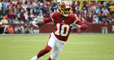 Redskins WR Paul Richardson runs with the ball.