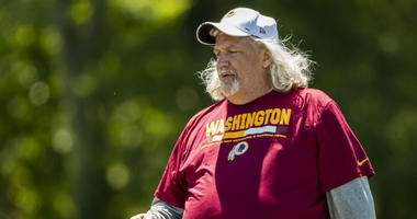 Redskins inside linebackers coach Rob Ryan at Redskins minicamp