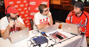 Grant & Danny join Capitals fans for a live broadcast at Elephant and Castle in Washington, D.C.