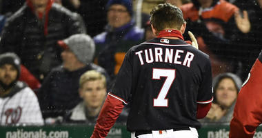 Trea Turner takes BP in Los Angeles, could be nearing return