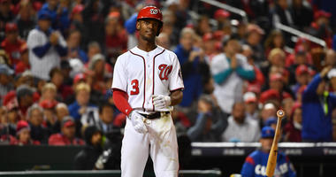 Nationals outfielder Michael A. Taylor could miss time with an injury.