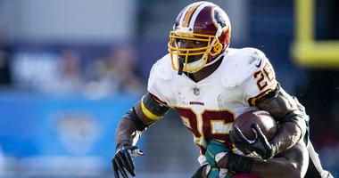Redskins running back Adrian Peterson