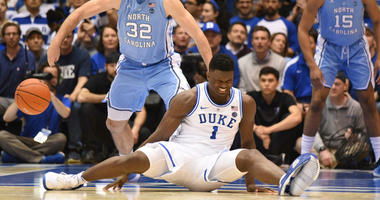 Duke freshman Zion Williamson injured his knee in the first minute against UNC.