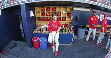 Phillies outfielder Bryce Harper still has yet to thank Washington Nationals fans.