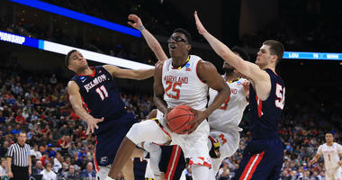 Maryland Terps forward Jalen Smith had a monster dunk in the NCAA Tournament.