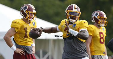 At training camp, the Redskins offense struggled for the second straight day Sunday.