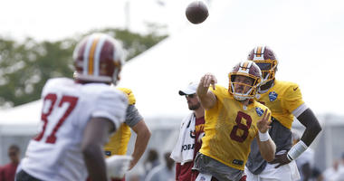 Redskins have first scuffle at training camp as inensity picks up.