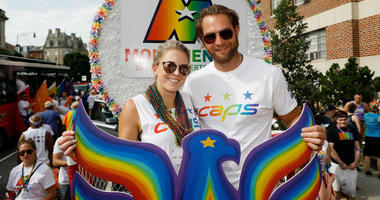 Capitals goaltender Braden Holtby and other D.C. sports teams represented in Capital Pride Parade.