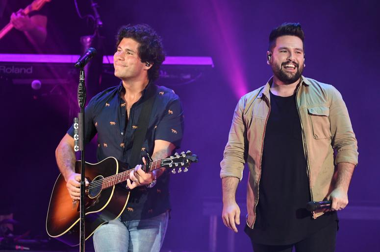 Recording artists Dan Smyers and Shay Mooney of Dan + Shay perform at the Coral Sky Smphitheatre