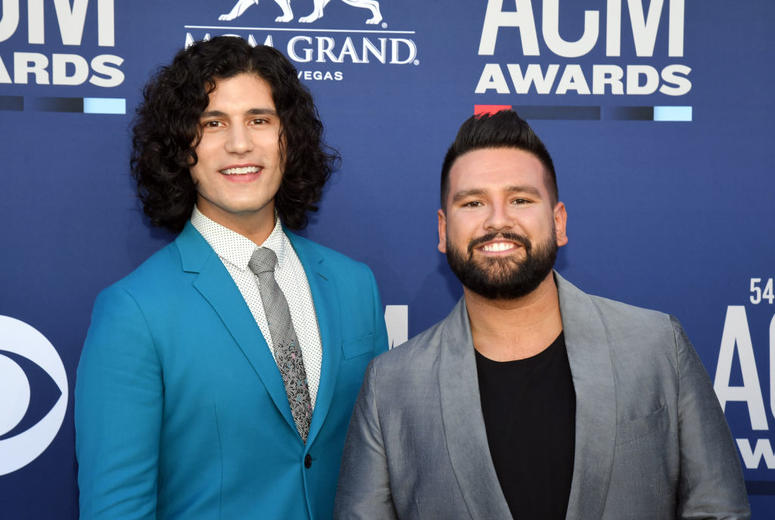 Dan + Shay attend the 54th Academy Of Country Music Awards at MGM Grand Hotel & Casino on April 07, 2019 in Las Vegas, Nevada