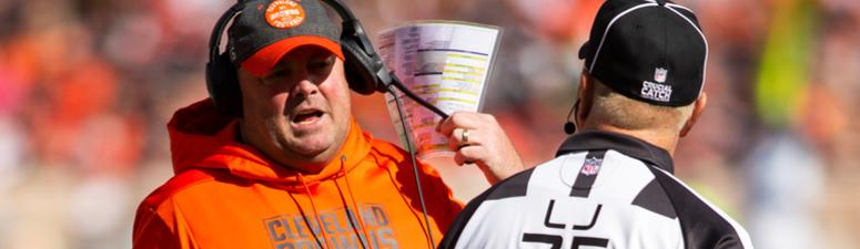 Freddie Kitchens leaves it to his players to rip officials following 32-28 loss to Seahawks