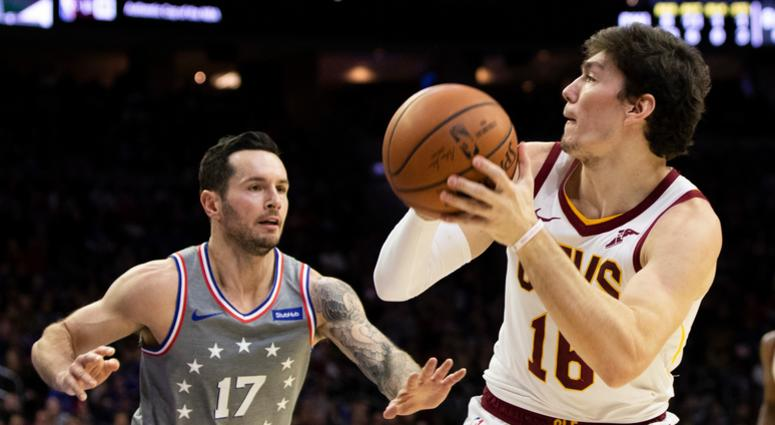 25b1a97d576b Cleveland Cavaliers  Cedi Osman looks to take the shot against Philadelphia  76ers  JJ Redick